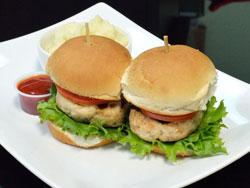 Turkey Burger Sliders with Potato and Cauliflower Mash