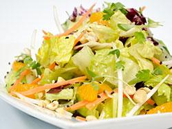 Shredded Asian Salad with Sesame Peanut Dressing