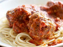 Dinner Bowl: Meatball Marinara with Spaghetti