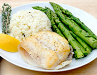 Herbed Orange Roughy with Steamed Asparagus