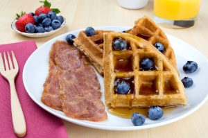 Paleo Meal Delivery Waffles and Bacon
