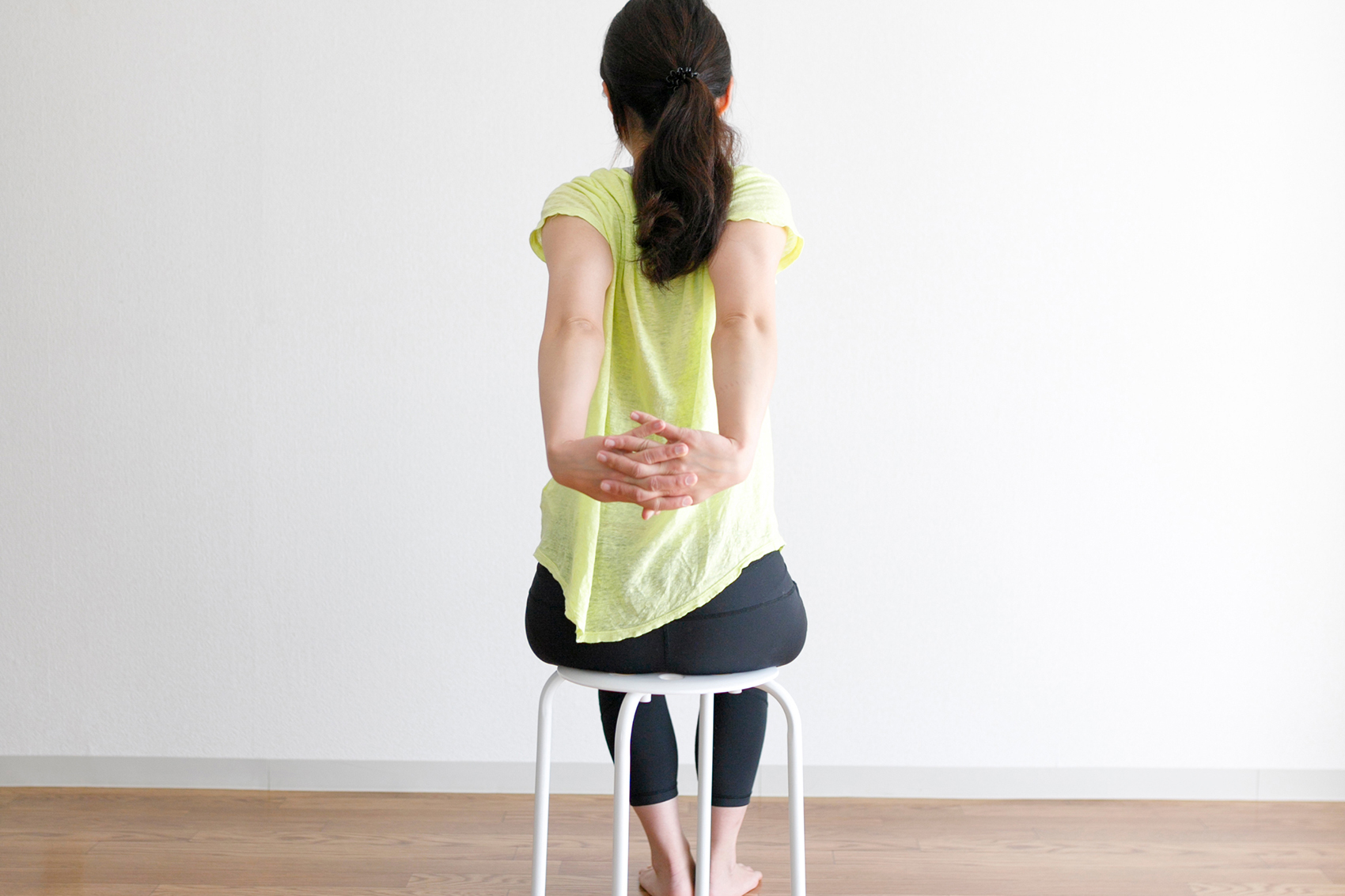 Seated yoga seal pose (Office-Friendly Version)
