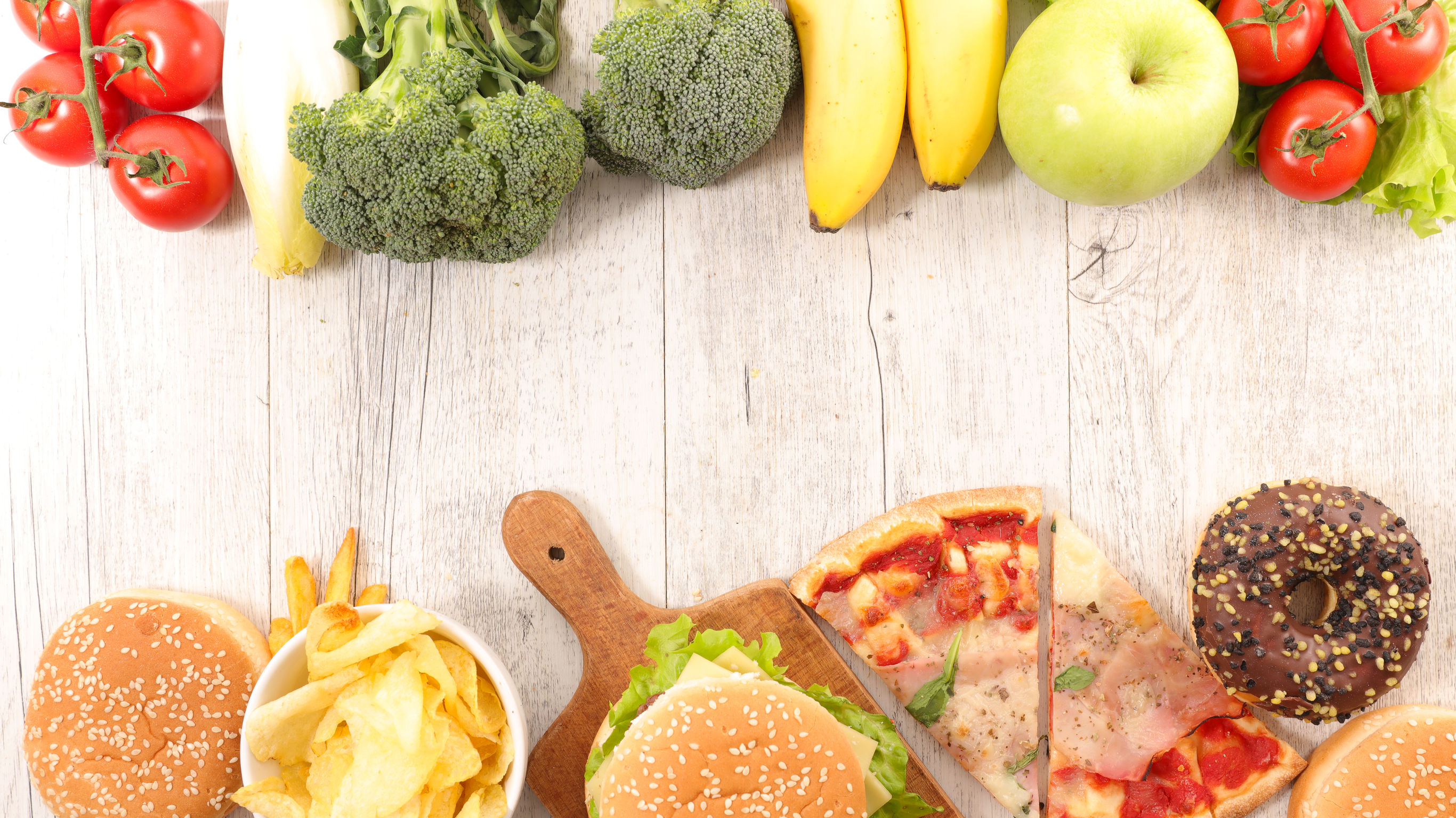 processed foods and healthy foods