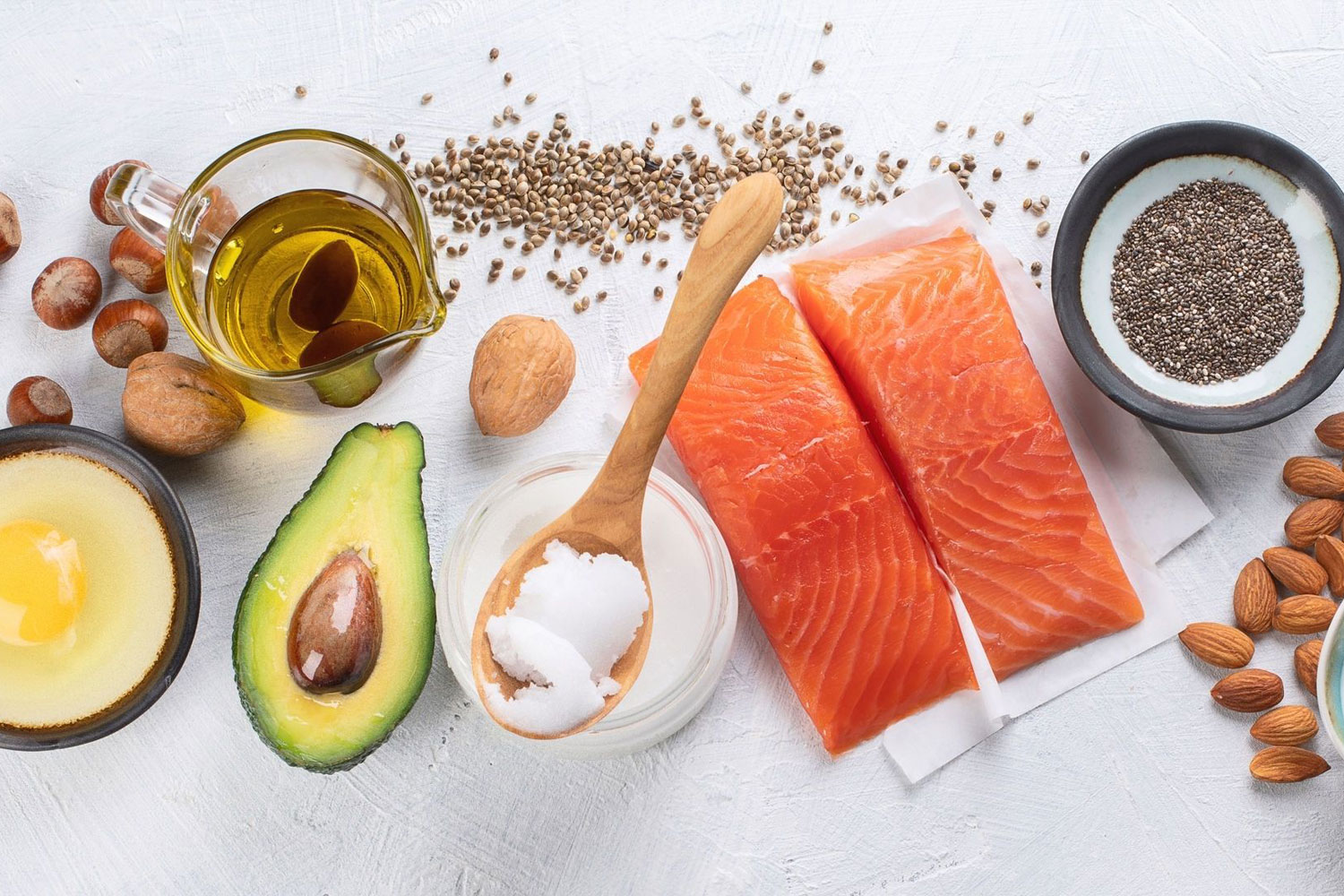 salmon, avocado, egg, nuts, almonds, seeds, and greek yogurt are great foods to boost energy